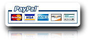Secure PayPal payment. You can order with your VISA, MasterCard or American Express (AMEX).
