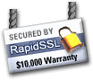 256 bit SSL Security Powered By RapidSSL
